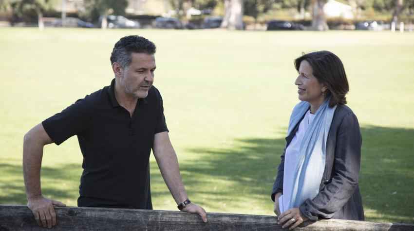 UNHCR Goodwill Ambassador Khaled Hosseini meets Melissa Fleming in Palo Alto, California thirty years after arriving in the USA as a teenager and an Afghan refugee. © UNHCR/Elena Dorfman