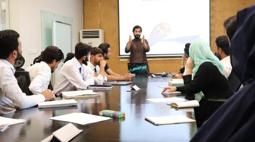 A training session for start-ups hosted by NIC Quetta - BUITEMS (Photo: NIC Quetta)