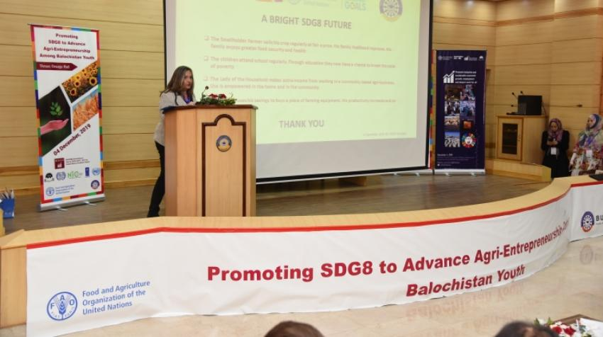 Balochistan University of Information Technology, Engineering and Management Sciences (BUITEMS), recently hosted the event Promoting SDG 8 to Advance Agri-Entrepreneurship for Balochistan Youth.
