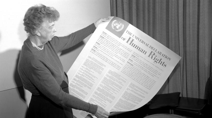 Eleanor Roosevelt reads the Universal Declaration of Human Rights (Photo: UN Photo)