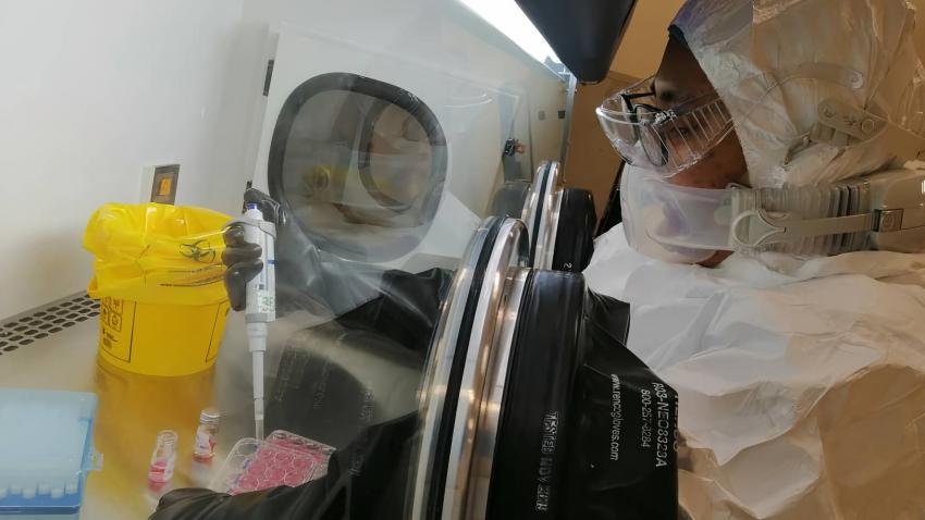 COVID-19 testing being conducted by IAEA donated equipment in Malaysia.