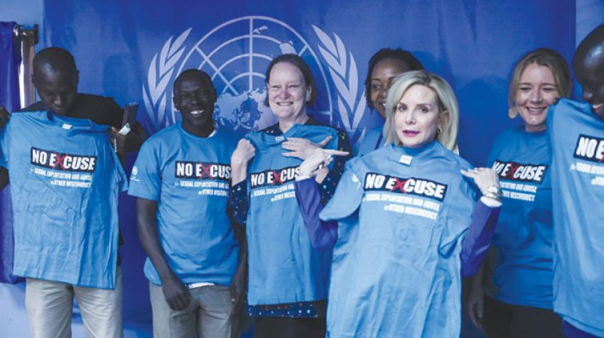 Assistant Secretary-General Jane Connors (third from left) concluded a five-day visit to South Sudan in Juba on 7 December 2017. ©UN Photo/Isaac Billy