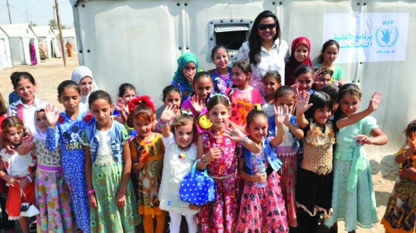 On her first international trip, United Nations Secretary-General's Envoy on Youth, Jayathma Wickramanayake, met with youth in a camp for Internally Displaced Persons. 14 August 2017, Iraq. © United Nations Assistance Mission for Iraq (UNAMI)