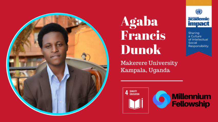 Agaba Francis Dunok, a Millennium Fellow for the Class of 2019, provided disadvantaged and refugee children of Uganda with the opportunity to obtain primary school education through his organization Kidsaid Uganda.