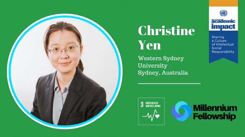 Christine Yen, a Millennium Fellow for the Class of 2019, creates awareness about traditional Chinese medicine and its role in modern healthcare to empower students and local community on their health and well-being.