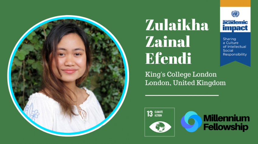 Zulaikha Zainal Efendi, a Millennium Fellow for the Class of 2019, started Project Tote to mobilize her community to share and donate tote bags to reduce single-use plastic waste.
