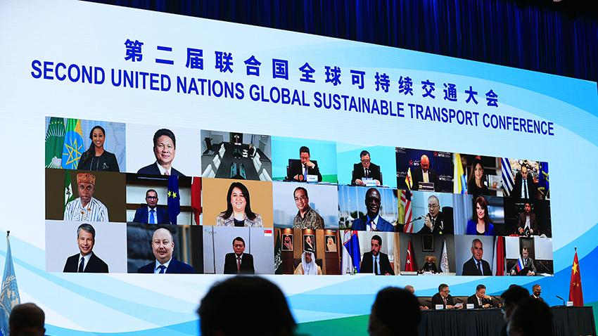 Speakers at the UN Sustainable Transport Conference