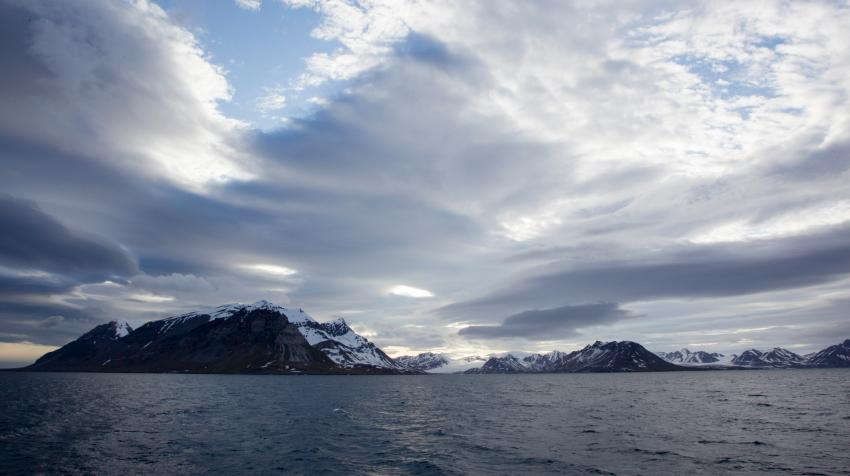 A view of the high Norwegian Arctic.