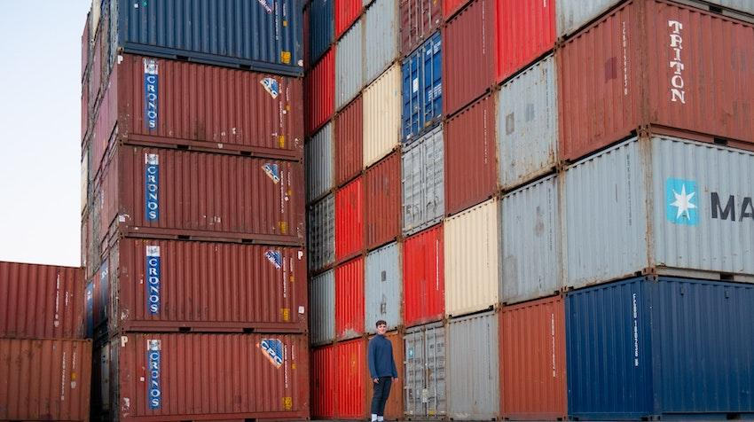 Dock of shipping containers