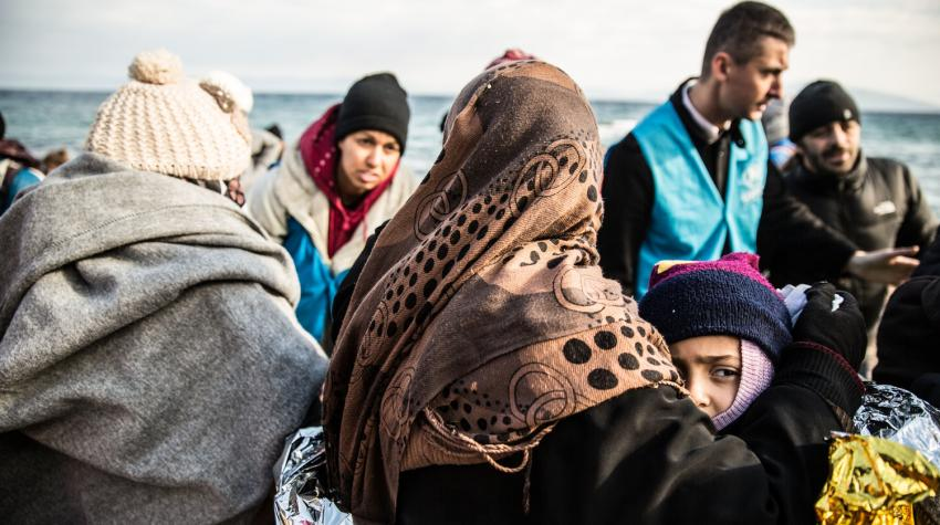In January 2016, Boris Cheshirkov was working on the shores of Lesbos island in Greece, helping the refugees who had just crossed the short but dangerous stretch of sea from Turkey. Over 67,000 people reached Greece by sea that month alone.