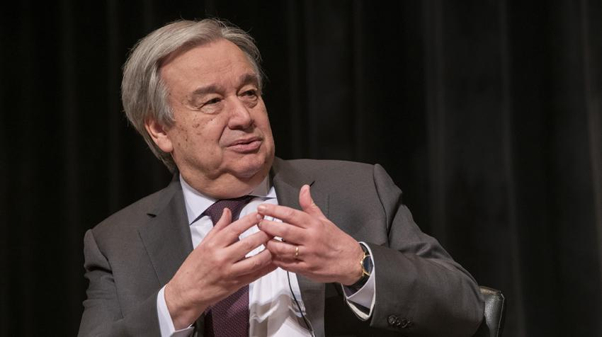 Secretary-General António Guterres speaking at a panel.