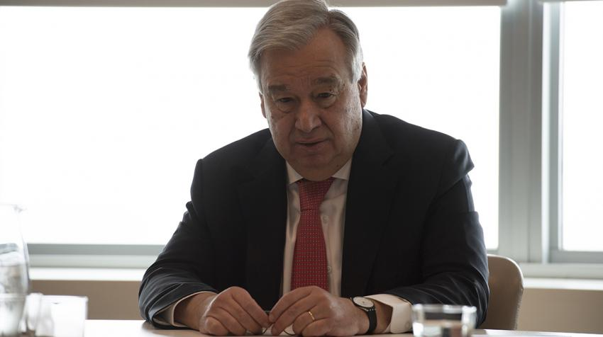Secretary-General António Guterres holds videoconference.