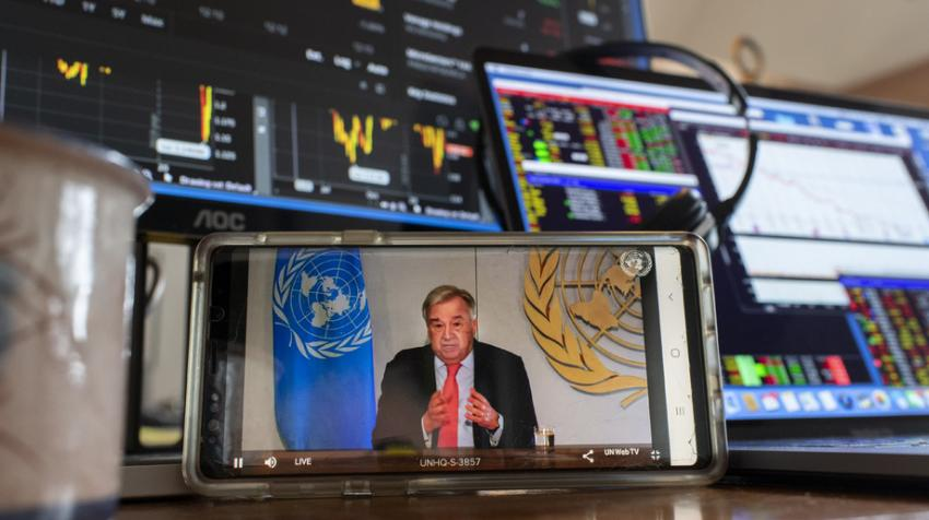 Secretary-General Holds Virtual Press Briefing