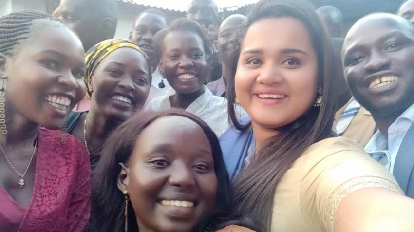 The UN Secretary-General's Youth Envoy launches a Peacebuilding Fund-supported project to strengthen the participation of young women in local and national peace processes, 27 January 2020. Source: Peacebuilding Fund, South Sudan.