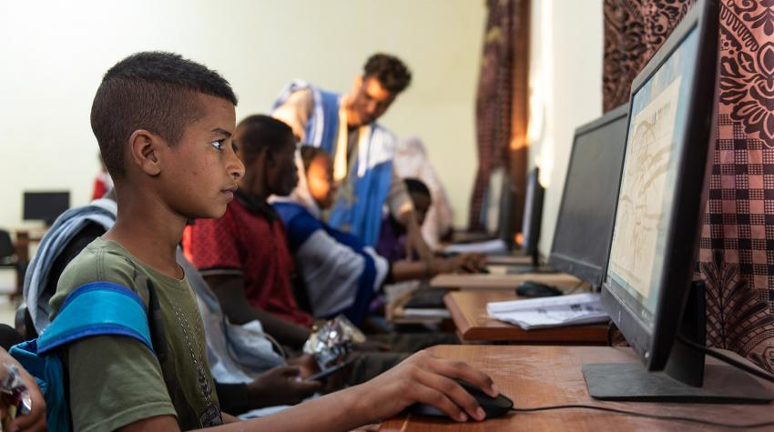 """The Youth Centre"" in the Mauritanian capital gives young people the opportunity to spend time with their friends, and learn new and creative skills."