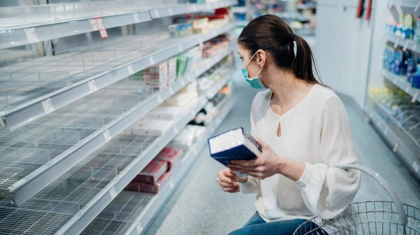 In some countries, lockdowns and disruptions in supply chains caused by the COVID-19 pandemic have led to empty shelves at grocery stores and other retail outlets.