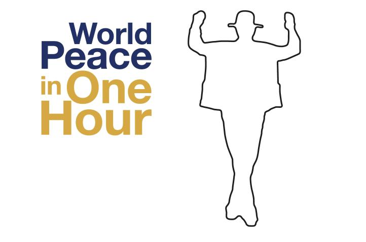 World Peace in One Hour logo. For more information, click the link at the end of the article.