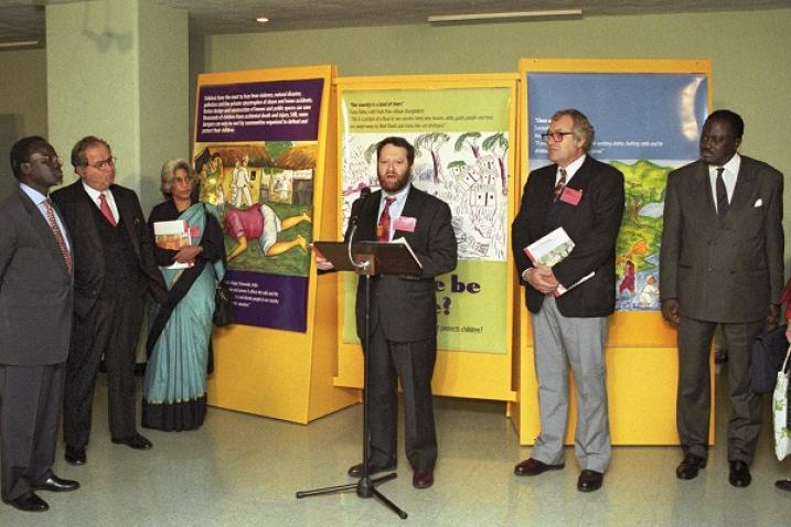 """Exhibition at United Nations Headquarters in New York on the occasion of """"Habitat II Week""""."""