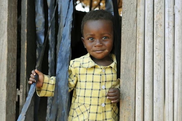 A young child in the village of Zeaglo, Côte d'Ivoire.