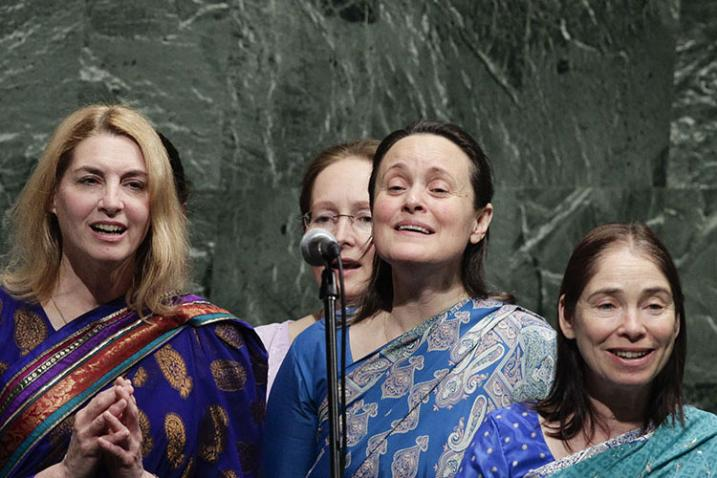 Singers from the group Sri Chinmoy Peace Meditation at the United Nations