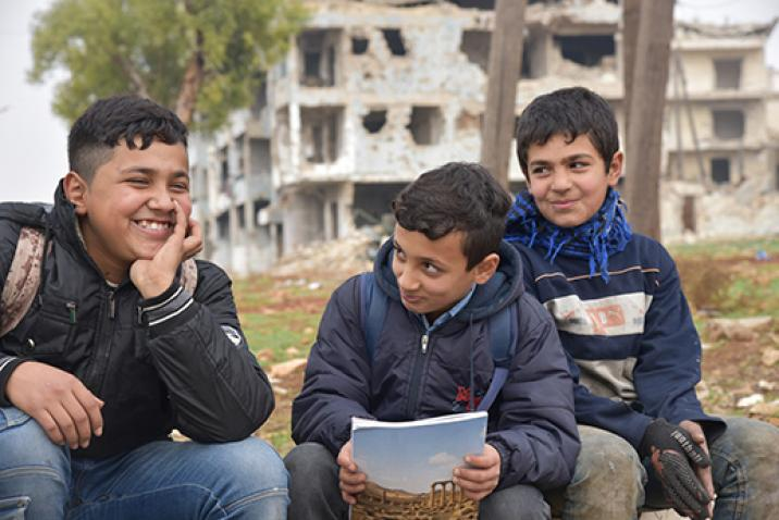school-aged boys in Syria