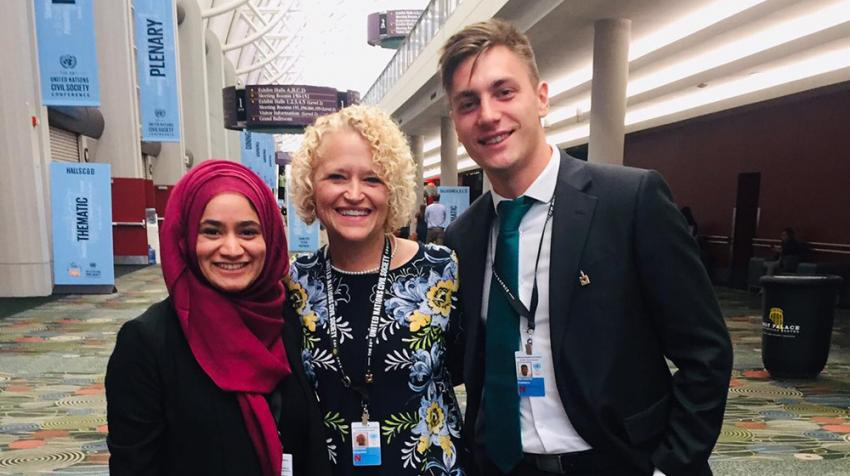 De Montfort University (DMU) PhD student Nabeelah Ahmed Omarjee at a workshop during the UN Civil Society Conference in Salt Lake City, United States.