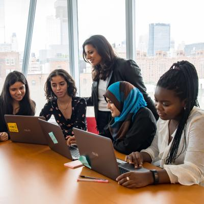 Reshma Saujani's nonprofit, Girls Who Code, is on a mission to close the gender gap in tech and change the image of what a programmer looks like and does. ©Girls Who Code.