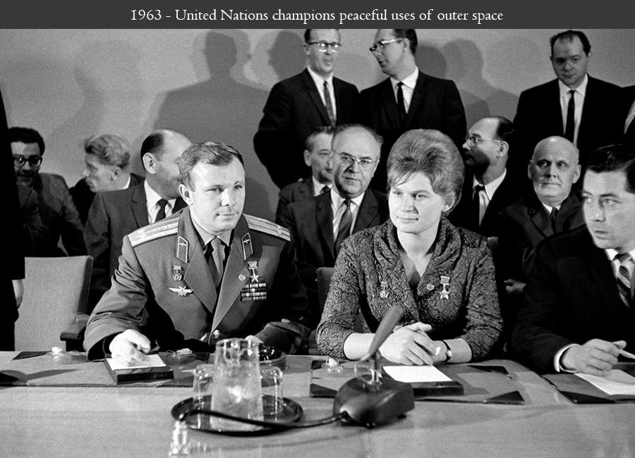 1963 - United Nations champions peaceful uses of outer space