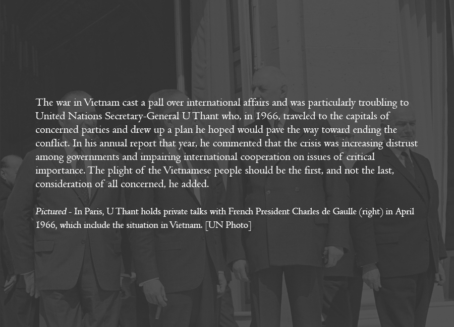 1966 - As the Cold War wears on, Vietnam crisis dampens international relations