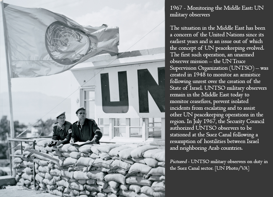 1967 - Monitoring the Middle East: UN military observers