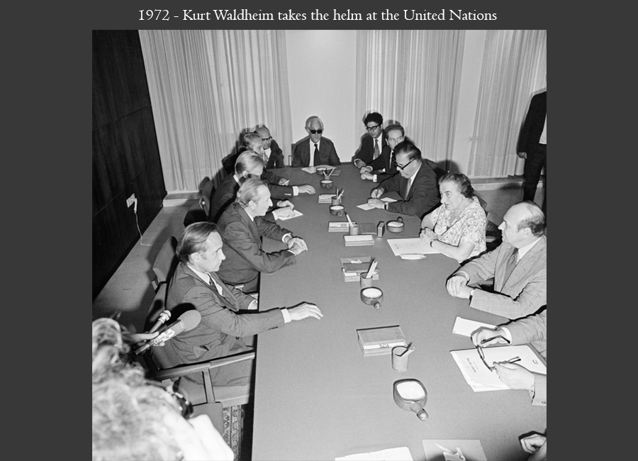 1972 - Kurt Waldheim takes the helm at the United Nations