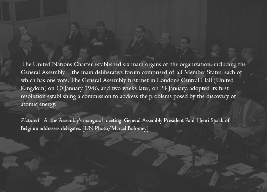 1946 - General Assembly begins its work