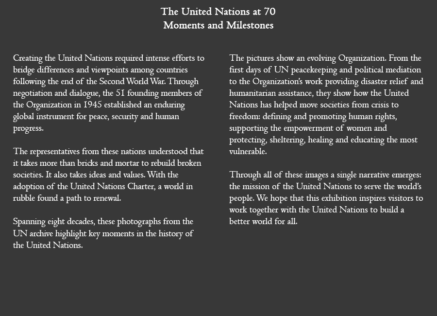 The United Nations at 70: Moments and Milestones