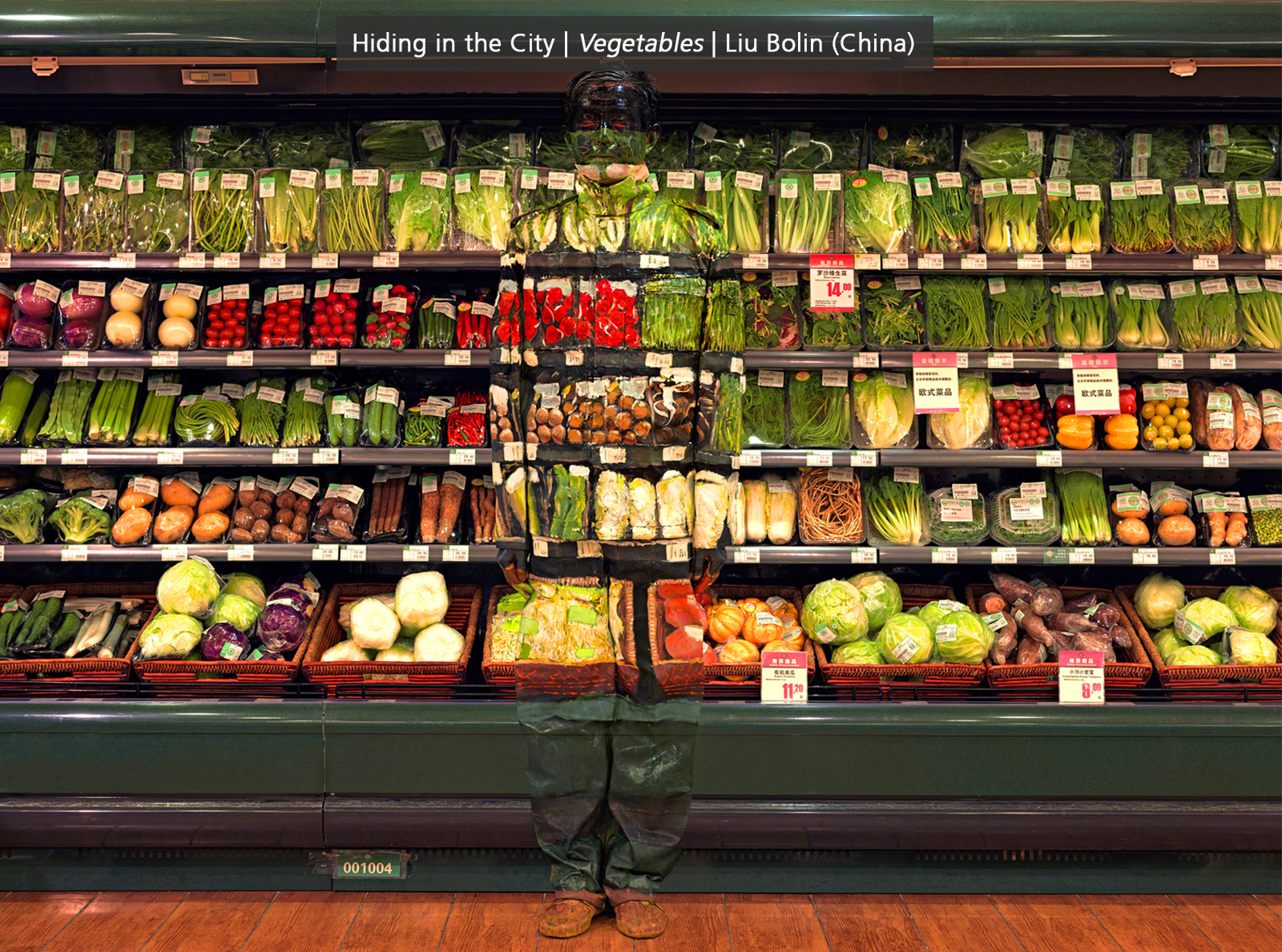 Hiding in the City   Vegetables   Liu Bolin (China)