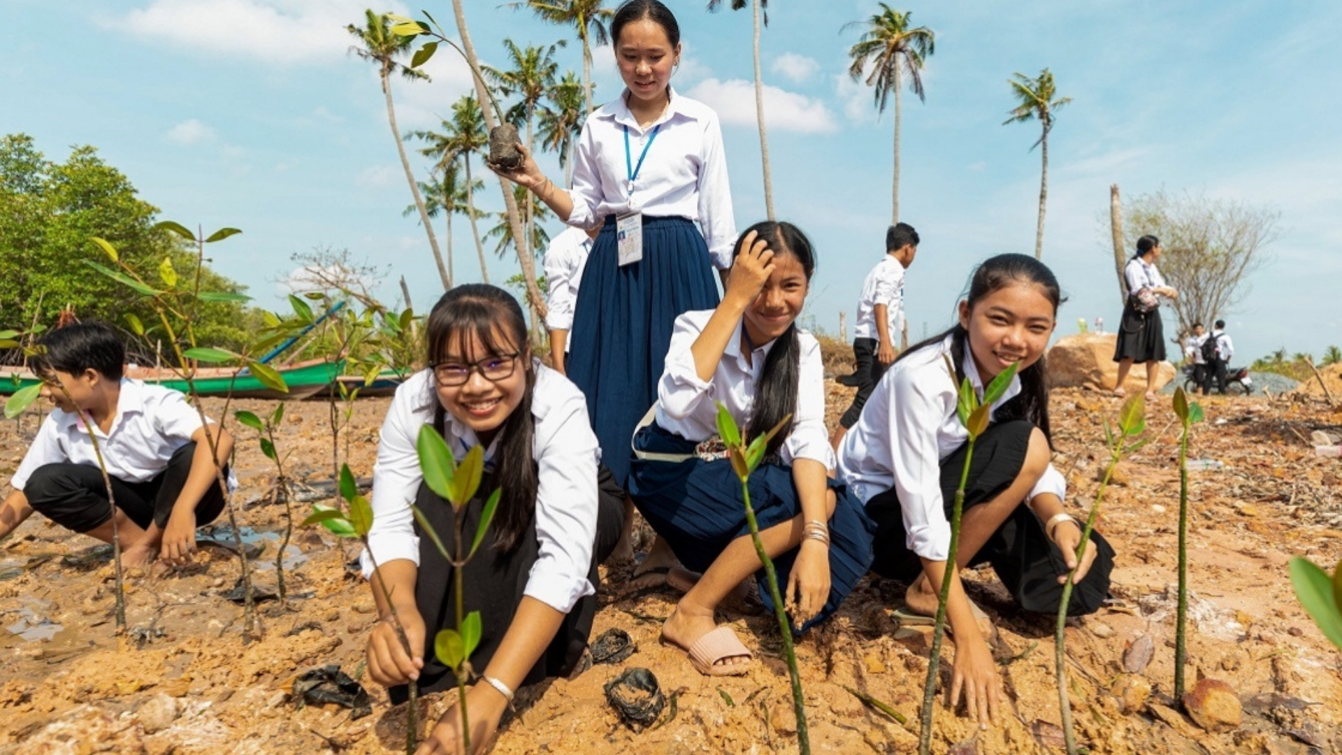 Young people band together to save the planet.
