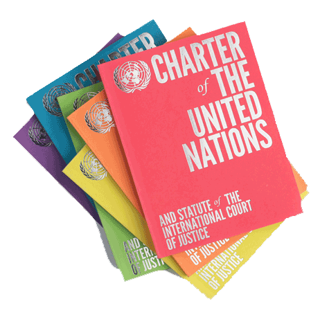 UN Charter covers in different colours