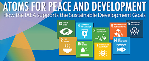 Click on the image to read how the IAEA Will Contribute to the Sustainable Development Goals
