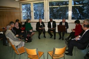 Photo: SDG Advocates gather to prepare for a panel discussion in Davos on 21 January.