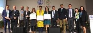 Photo: Youth on stage at COP22.