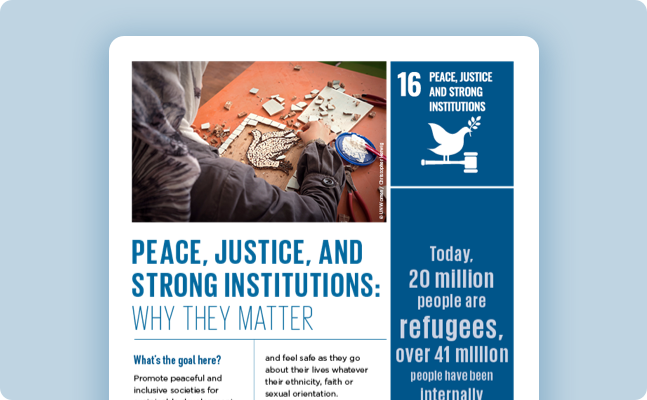 Peace, justice and strong institutions - United Nations Sustainable