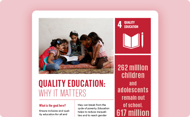 education   united nations sustainable development why it matters quality education