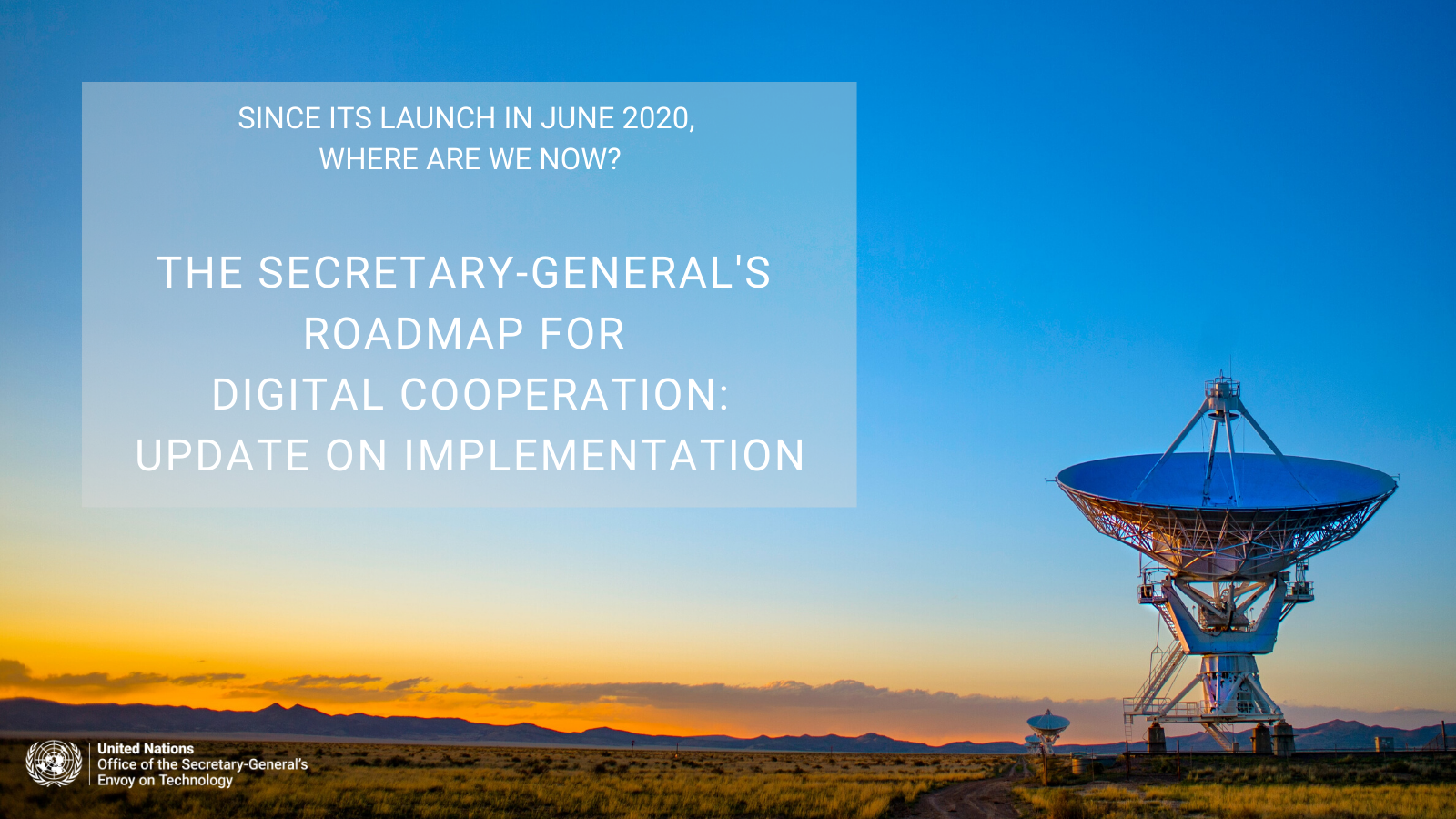 The Secretary-General's roadmap for digital cooperation - update on implementation