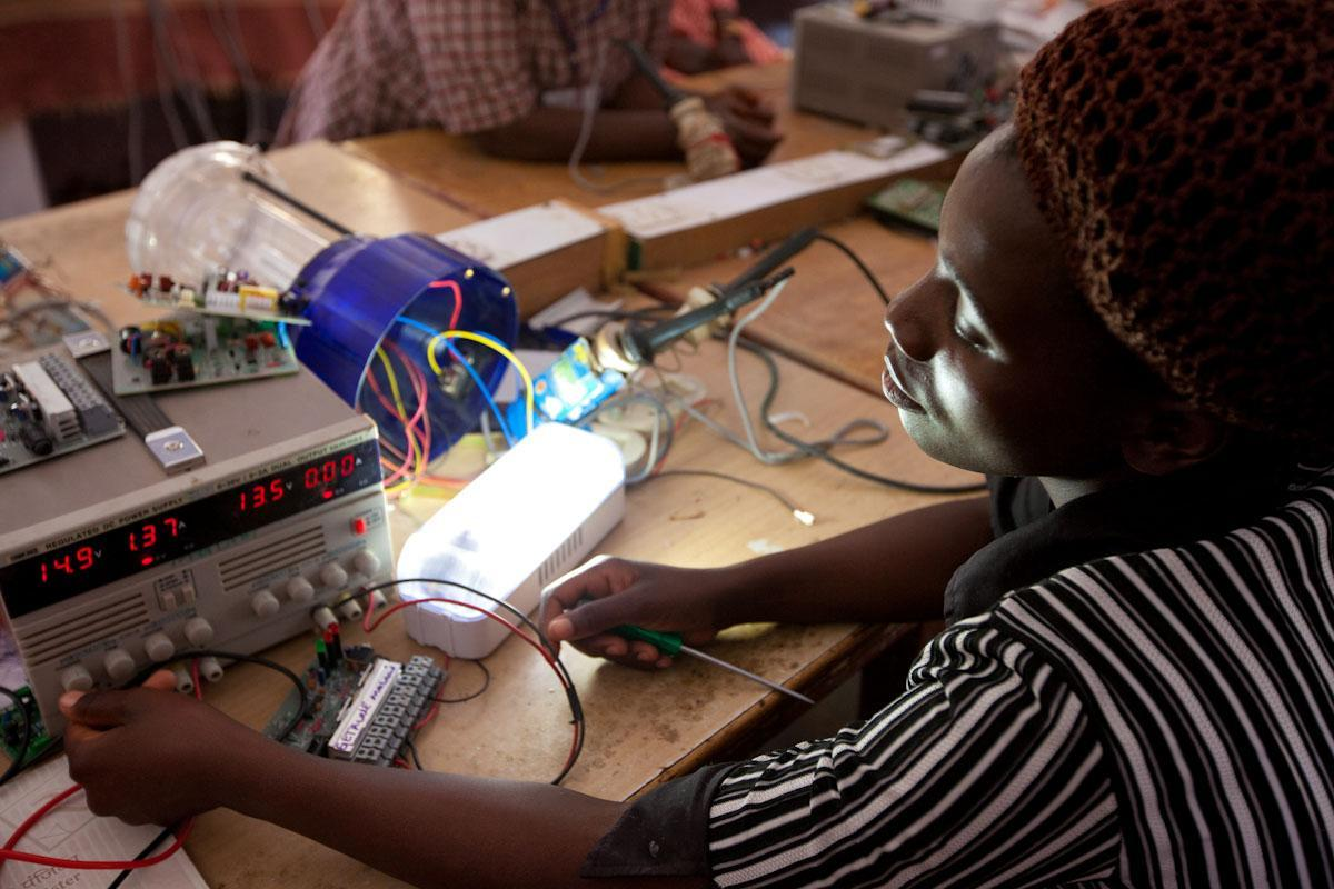 Lighting up lives: Training women in Malawi to become solar power engineers.