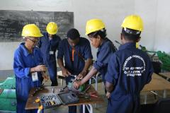 The training center offers various courses for young people to enter the job market in Madagascar.