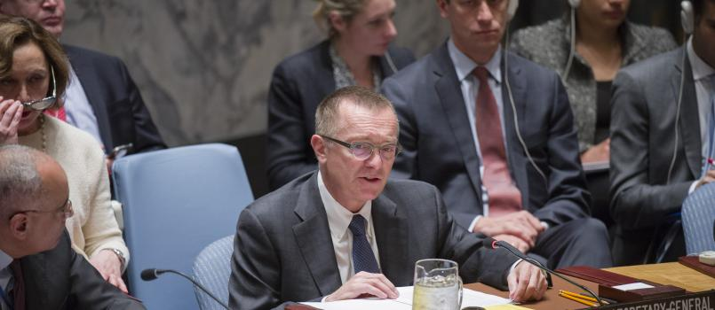 Jeffrey Feltman at United Nations Security Council, briefing on Aleppo