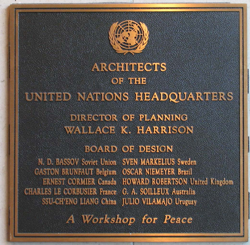 Architects of the UN Headquarters, UNNY104G, 1991, Anonymous