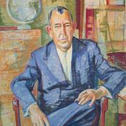 Portrait of Trygve Lie, UNNY018G, 1960, Friends of Trygve Lie