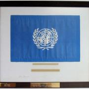 United Nations Flag, UNNY041G, 1971, USA, Apollo 14 Mission