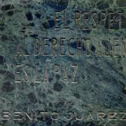 Marble Plaque dedicated to Benito Juarez, UNNY103G, 1973, Latin American Group