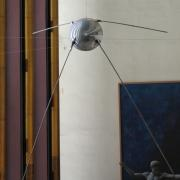 Life size model of the first Russian Sputnik, UNNY135G, 1959, USSR